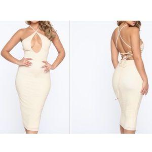 Fashion Nova Halter Style Midi Dress
